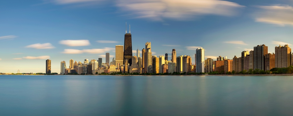 vending machines in Chicago skyline